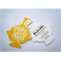 Buy cheap Yellow Clothing Label Tags Recycled Paper Hang Tag For Necklaces from wholesalers