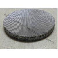 Buy cheap Stainless Steel Wire Cloth , 0.5 Micron 316 Stainless Steel Wire Sintered  Filter from wholesalers