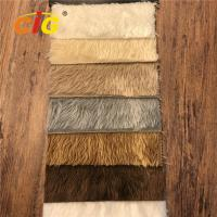 Buy cheap High Pile Plain 100% Polyester Fake Synthetic Fur Fabric For Garment product