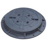 Buy cheap EN124 ROUND DUCTILE IRON MANHOLE COVERS 800MM 900MM DIA C250 D400 MEDIUM DUTY from wholesalers