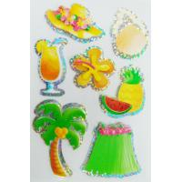 Buy cheap Summer Season Style Custom Hologram Stickers Soft Without Harmful Edges from wholesalers