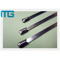 Buy cheap Nature Color Cable Accessories Self Locking Stainless Steel Cable Ties Free Samples from wholesalers