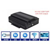Buy cheap 2TB HDD 3G / 4G WIFI GPS G - sensor Car Mobile DVR 4CH AHD 720P Vehicle MDVR product