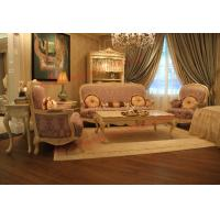 Buy cheap Parquetry and Golden Decortation in Wooden Carving Frame with Fabric Upholstery Sofa from wholesalers