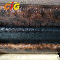 Buy cheap Embossed Waterproof PVC Artificial Leather Fabric Tear Resistant For Luggage product