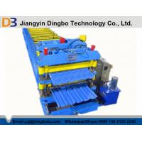 Buy cheap 5.5kw Roof Sheet Tile Roll Forming Machine in Wall / Roof Construction Hydraulic Cutting from wholesalers