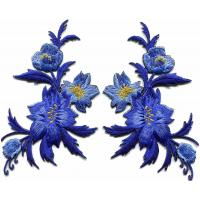 Buy cheap Sew - On 3D Embroidery Patches / Flower Iron On Patches Muti Backing from wholesalers
