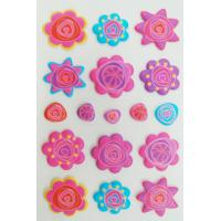 Top quality Removable 3D Foam Stickers beautiful With Silk Screen Printing for sale