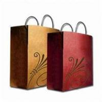 Buy cheap ECO Red and Yellow Paper Hot Transter Printing Customized Printed Gift Bags for Packaging from wholesalers