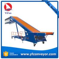 Buy cheap Truck loading belt conveyor with motorized expanded roller conveyor from wholesalers