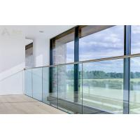 Buy cheap 12mm Tempered Glass Railing with U Base Channel and Stainless Steel Top Rail product