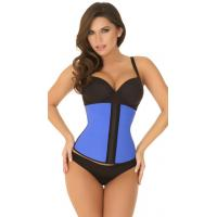 Buy cheap Sexy Bodyshapers Wholesale Blue Strapless Contour Waist Trainer with size S M,L,XL from wholesalers