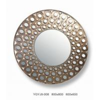 Buy cheap Custom Interior Decorative Framed Wall Mirrors / Round Art Glass Mirror 13mm from wholesalers