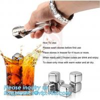 Buy cheap Customized stainless steel whiskey ice cube stone, Mini Stainless Steel Ice Cube Whisky Stone wholesale, bagease, pac from wholesalers