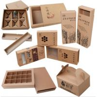 Buy cheap Kraft Paper Lunch Box Disposable Salad Box Food takeaway Packaging Box from wholesalers