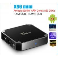 Buy cheap Amlogic S905W Quad Core Hot sale Wifi X96 mini Android  Network IP TV BOX Android 7.1 TV 4K HD  TV BOX 2G Ram 16G Flash from wholesalers