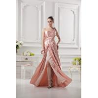 Buy cheap Sexy One Shoulder Taffeta Ruffle Side Zipper Bride Mothers Dresses Long Dress With Sequins Flower from wholesalers