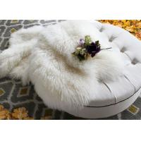 Buy cheap Mongolian Long Real Sheepskin Rug Comfortable For Home Textil / Making Garment from wholesalers