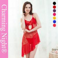 Buy cheap Wide Style Transparent Sexy Chemise Lingerie , Young Girls sexy nightwear dress from wholesalers
