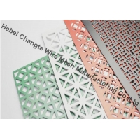 Buy cheap 1.22m Width Galvanized Triangle Hole Perforated Metal Mesh Screen from wholesalers