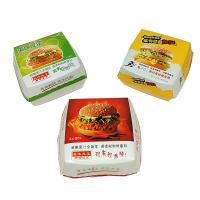 China 250Gsm White Cardboard Paper Packaging Box , Burger Packaging Box UV Coating on sale