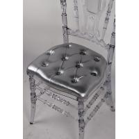 Buy cheap Acrylicglass Diamonds Hard-Bottom Seat Pads , Panel Back Cushion For Resin Napoleon Chair 3 cm from wholesalers