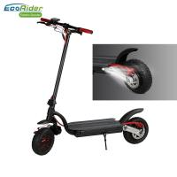 Buy cheap EcoRider Double Battery 10inch Fat Tire Dual Motor Foldable Electric Scooter for Adult from wholesalers