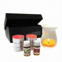 Buy cheap Hot Sale Lavender Candle Gift Set with Ceramic Fragrant Oil Warmer TS-CB053 from wholesalers