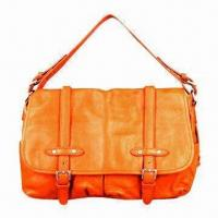 Buy cheap PU Fashionable Bag/Lady's Handbag in Latest Design, Measuring 39 x 28 x 13cm, Available in Orange from wholesalers