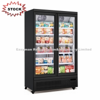 Buy cheap Commercial Double Door Freezer Glass Door Upright Ice Cream Freezer Showcase with CE from wholesalers