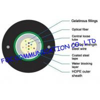 Buy cheap Loose Tube 12 Core Outdoor Fiber Optic Cable Single Mode And Multimode Armored from wholesalers
