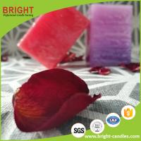 Buy cheap Square Pillar Candle Different Color Red Color And Purple Color With Layer Effect from wholesalers