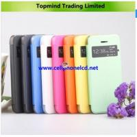 Buy cheap Open Windows Book Type Leather Case with Transparent PC Back Cover for iPhone 5S from wholesalers