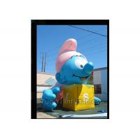 Buy cheap Air Sealed Giant Advertising Balloons Inflatable Smurfs Replica Balloon from wholesalers