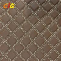 Buy cheap Fashionable PVC Artificial Leather Embroidery Pattern 150cm - 155cm Width product