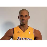 Kobe Bryant Wax Figure / Realistic Wax Sculptures For Museum Display , Memorial Hall