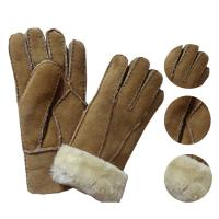 Buy cheap Economic and soft double face sheepskin gloves patched gloves real leather lamb fur gloves from wholesalers