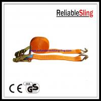 Buy cheap Car hauler / Boat trailer Ratchet Tie Down Strap with hooks 25mm 1.5T from wholesalers