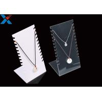 Buy cheap Jewellery Store Acrylic Necklace Display Stands , Acrylic Necklace Holder Pendant Bracelet from wholesalers