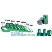 Buy cheap Green PET High Temperature Silicone Adhesive polyester Tape,Green PET Masking Tape Especially on Liner and Discs bagease from wholesalers