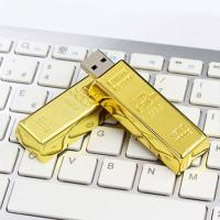 Buy cheap Golden Plated Metal USB Flash Drive Fashion Gift Custom Design Welcome from wholesalers