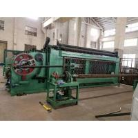 Buy cheap High Efficiency Gabion Wire Mesh Machine Green Color With Automatic Oil System from wholesalers