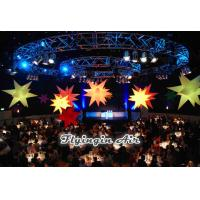 Hanging Inflatable Star with LED Lights for Party and Wedding Decoration