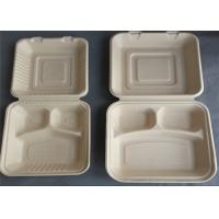 Buy cheap New Arrival Disposable Lunch Box, Biodegradable Corn Starch Food Container, Paper Lunch Box from wholesalers
