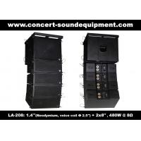 Buy cheap 480W Compact Double 8 Line Array Speaker For Installation , Church , Conference, Nightclub from wholesalers
