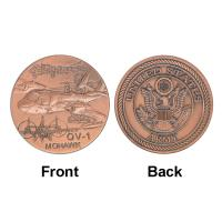 Buy cheap Army OV - 1 MOHAWK Plane Token Commemorative Coins , Military Souvenir Collectible Coins from wholesalers