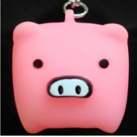 Buy cheap Customized design elephant shaped PVC Color change LED Flashing Keychain for ornaments from wholesalers