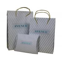 Buy cheap Classic Anvenue Paper Carrier Bag PVC Clip Closure 200 gsm Twist paper Handle from wholesalers