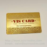 Buy cheap Printed etching business cards wholesale in China etching process factory from wholesalers