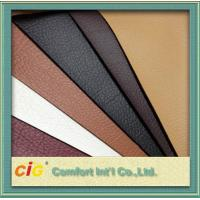 Buy cheap Red Brown Orange Polyurethane Synthetic Leather Fabric 100gsm-1000gsm product